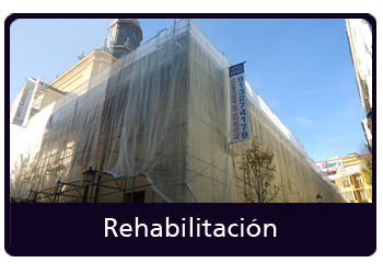 andamios rehabilitación de fachadas